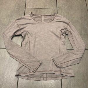 Lululemon Long Sleeve T-shirt Top Mauve